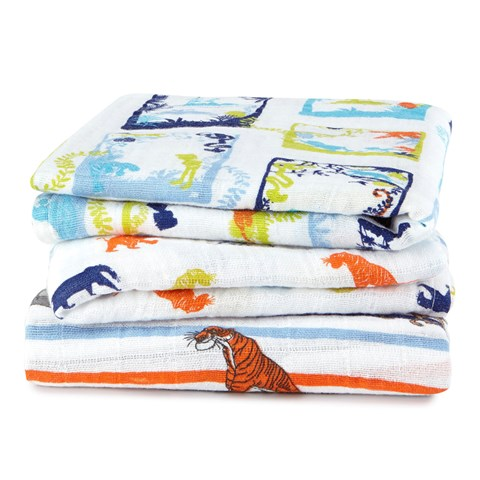 Aden + Anais Pack of 3 Jungle Book Print Musys