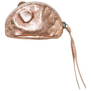 EASY PEASY | Easy Peasy Rose Gold-Tone Metallic Leather Mouse Purse One Size | Goxip