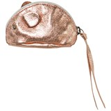 Easy Peasy Rose Gold-Tone Metallic Leather Mouse Purse