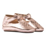 Easy Peasy Rose Pink Metallic Lilly Mary Janes Crib Shoes