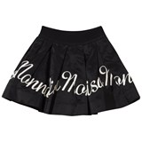 Monnalisa Black Monnalisa Embroidered Taffeta skirt