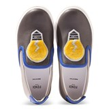 Fendi Blue Slip-On Lightbulb Shoes