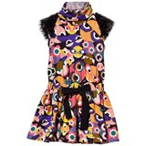 Fendi Monster Jersey Dress with Confetti Sleeve