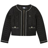 Karl Lagerfeld Kids Black Quilted Classic Jacket