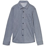 Il Gufo Navy and Grey Jersey Stripe Shirt
