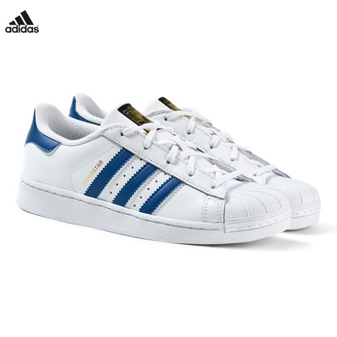 White and Blue Superstar Trainers