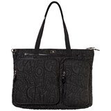 Ferragamo Poppins Black Embroidered Changing Bag with Mat