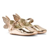 Sophia Webster Mini Chiara Baby Rose Gold Embroidered Butterfly Crib Shoes