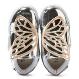 Sophia Webster Mini Bibi Mini Low-Top Silver Metallic Butterfly Trainers
