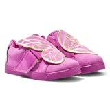 Sophia Webster Mini Bibi Mini Low-Top Purple Suede Butterfly Trainers