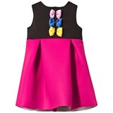 Love made Love Black and Fuchsia Neoprene Dress with Coloured Bows