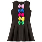 Love made Love Black Neoprene Dress with Coloured Bows