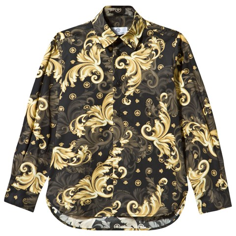 black gold versace shirt