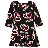 Moschino Black Heart Print Jersey Dress