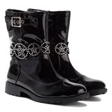 Lelli Kelly Ann Black Patent Jewelled Ankle Boots