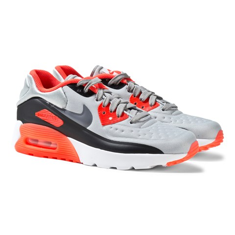 Grey and Red Air Max 90 Ultra SE Trainers