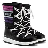 Moon Boot Black and Pink W.E. Quilted Moon Boots