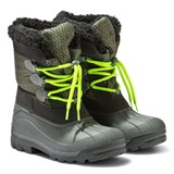 Armani Junior Grey Waterproof Teddy Lined Snow Boots