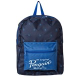 Original Penguin Blue Penguin Branded Backpack