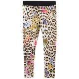Roberto Cavalli Pink Leopard and Floral Print Leggings