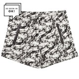IKKS Black and White Tie Dye Jersey Shorts