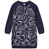 Kate Mack - Biscotti Navy Sequin Rose Applique Sweater Dress