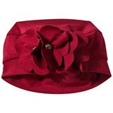 Kate Mack - Biscotti Red Felt Hat with Rose Applique