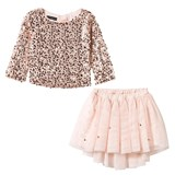 Kate Mack - Biscotti Rose Gold Sequin Top and Sequin Skirt Set
