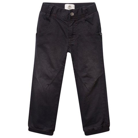 Black Cuffed Trousers with Elasticated Waistband