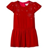 Wild & Gorgeous Red Velvet and Beaded Detail Happy Dress