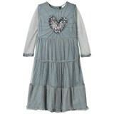 Wild & Gorgeous Blue Love Dress with Sequin Heart