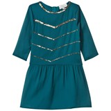 Wild & Gorgeous Teal Sequin Detail Suki Dress with 3/4 Sleeves