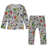Stella McCartney Kids Grey Georgie/Macy Comic Sticker Print Set