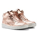 Stella McCartney Kids Darby Gold Holographic Hi-Top Trainers