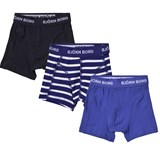 Bjorn Borg Pack of 3 Blue, Navy and Striped Trunks