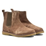 Pom D'api Light Brown Suede Chelsea Boots