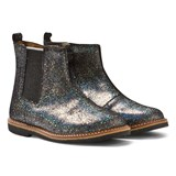 Pom D'api Black and Silver Glitter Chelsea Boots