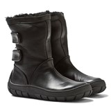 Pom D'api Black Leather Sheepskin-Lined Warm Boots