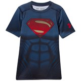 Under Armour Navy and Red Superman Top