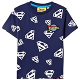 Fabric Flavours Blue Superman Repeat Glow-in-the Dark Print Tee
