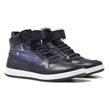 Paul Smith Junior Navy Hi-Top Leather Trainers
