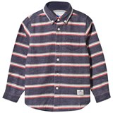 Penfield Navy Marl Striped Cotton Shirt