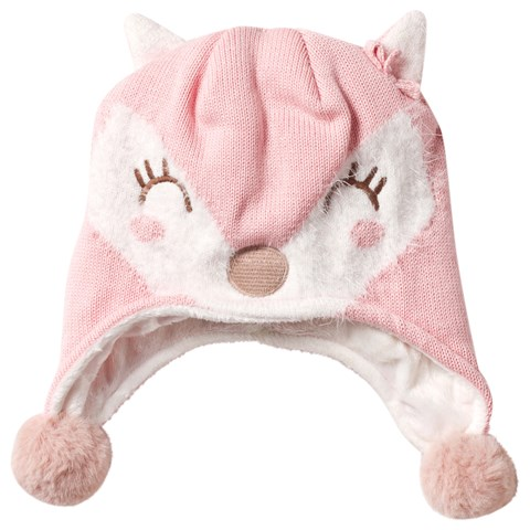 0ba3ae0f773 Mayoral Pink Fox Baby Trapper Hat