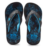 Reef Black and Blue Ahi Light-Up Sandals
