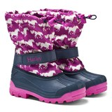 Hatley Pink Fairy Tale Horse Print Snow Boots