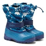 Hatley Navy and Blue Dino Print Snow Boots