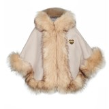 Bandits Girl Beige Faux Fur Cape
