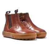 Pom D'api Camel Brown Zipped Chelsea Boots