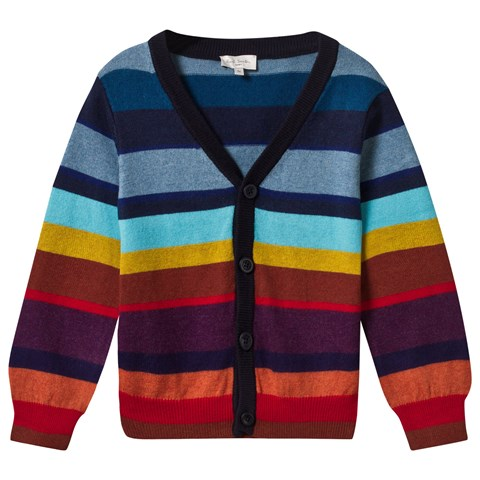 Paul Smith Junior Multi Stripe Knit Classic Cardigan