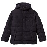 Barbour Navy Cowl Quilted Coat with Detachable Hood
